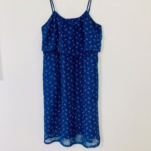 Tulle Blue Dress with Anchor Pattern; S